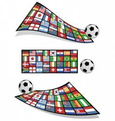 football flag banners vector image