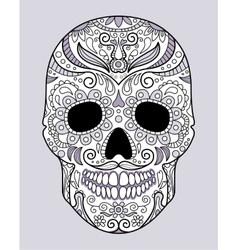 Skull in different monograms original design vector