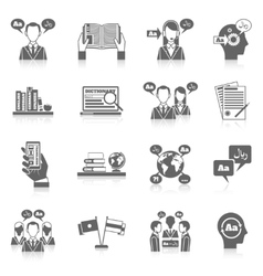 Translation and dictionary icon vector