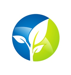 plant leaf botany environment logo vector image