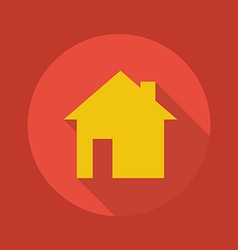 Business flat icon real estate vector