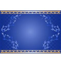 Decorative floral card vector