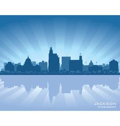 jackson mississippi skyline vector image