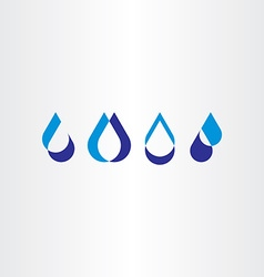 Drop water icon set collection logo design vector