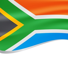Waving flag of south africa isolated on white vector