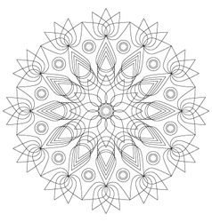 Adult coloring book mandala lotus flower vector