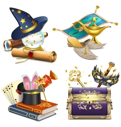 Magic concept icons vector