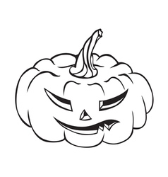 Evil pumpkin vector