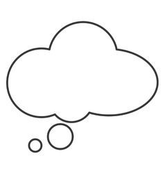 Cloudlike conversation bubble icon vector