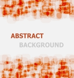 Abstract orange rounded rectangle overlapping vector