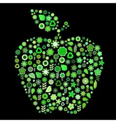 apple shape vector image vector image