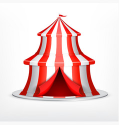 Circus tent on white vector