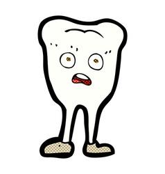 Comic cartoon yellowing tooth vector