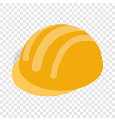 Construction helmet isometric icon vector