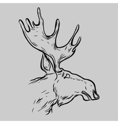 Elk head animal symbol vector