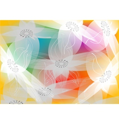 floral swirls vector image vector image