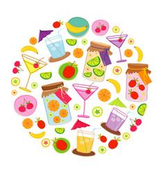 Fruit drink vetor vector