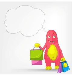 Funny Monster Shopping vector image vector image