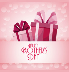 happy mothers day gift boxes presents decoration vector image vector image
