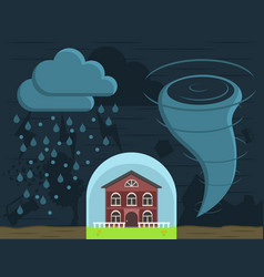 Home insurance against natural disasters vector