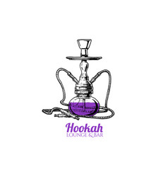 hookah vector image