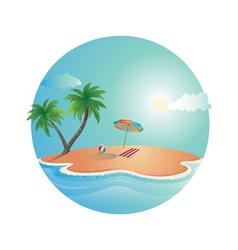 Island dream design vector