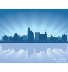 jackson mississippi skyline vector image vector image