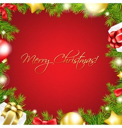 Merry Christmas Red Wallpaper vector image vector image