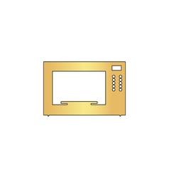 Microwave computer symbol vector image