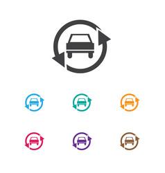 Of car symbol on upgrade vector