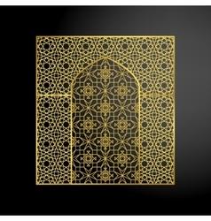 Oriental moroccan arch vector