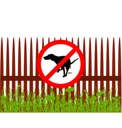 Prohibition sign dog crapping vector