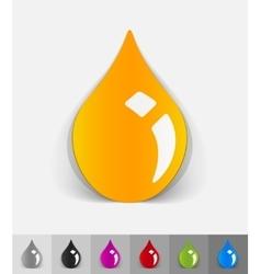 realistic design element drop of oil vector image