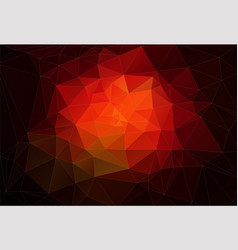 red 2d abstract and polygonal background vector image