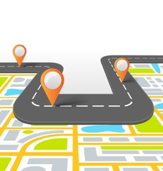 Road information background with map vector