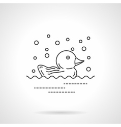 Rubber duck icon flat line design icon vector image