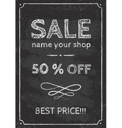 Sale chalk vector image