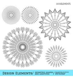 Set of geometric hipster shapes and logotypes64954 vector