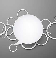 Speech bubble with paper white circles vector image vector image