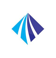 Square business finance arrow logo image vector