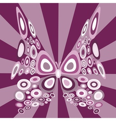 stylized butterfly vector image vector image
