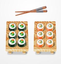 sushi set Philadelphia classic vector image vector image