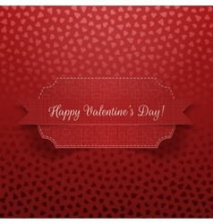 Valentines Day realistic red Ribbon and Card vector image