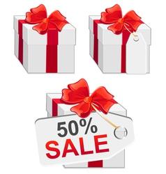 white sale present vector image vector image