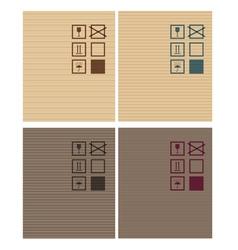 Cardbox textures vector image