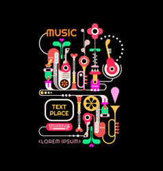 Abstract music design vector