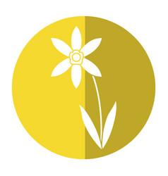 Lily petal natural style shadow vector