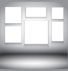 Blank canvases in room interior 2202 vector