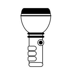 Flashlight camping icon image vector