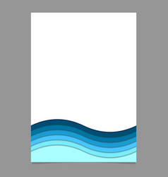 Page template from blue wavy striped layers - vector